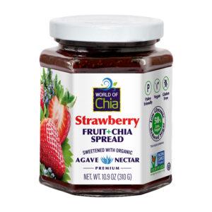 Premium chia strawberry fruit spread