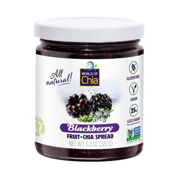 Standard chia blackberry fruit spread