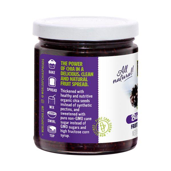 Standard chia blackberry fruit spread world of chia