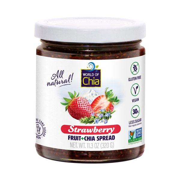 Standard chia strawberry fruit spread