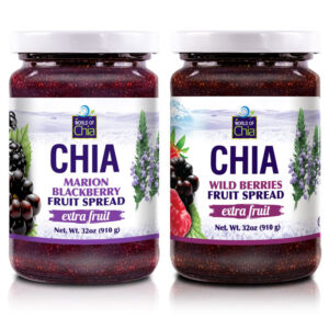 Set 2 Wildberry/Marionberry Chia Fruit Spread 32 Oz Extra Fruit