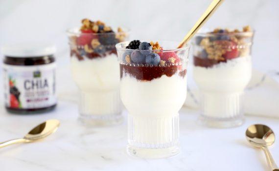 Yogurt with Granola and World of Chia Spread recipe