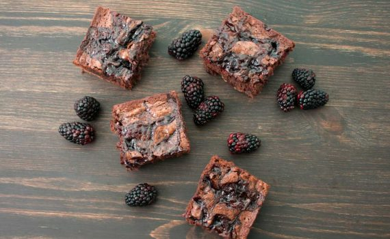 Fudgy Swirled Brownies recipe With World of Marion Blackberry Extra Fruit